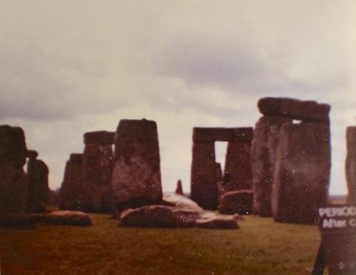 aged photo of stone henge circa 1982-1983