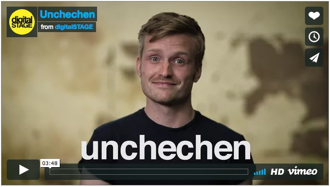 "Image of actor in ""Unchechen"" videoplay"