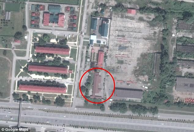 satellite image of former military base in Argun identified as detention center
