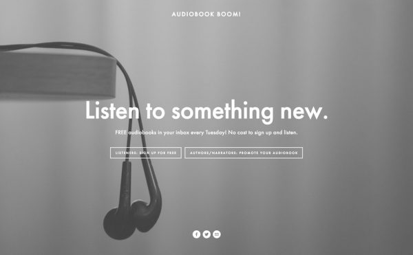 Audiobook Boom! landing page