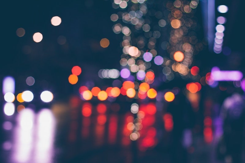 city lights at night