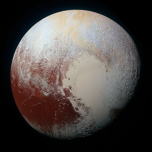 NASA photo of Pluto (kuyper belt dwarf planet)