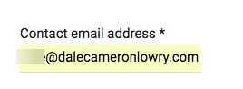 form asks for email address