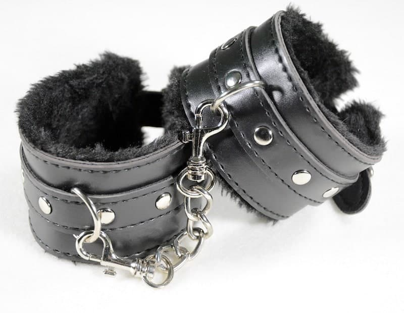 Photo of fur-lined handcuffs for use in BDSM